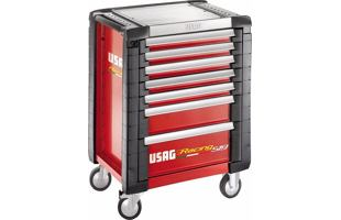 Montážní dílenský vozík na nářadí USAG 519 R7/3V