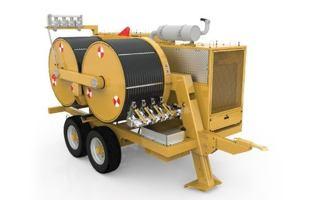 Digitální hydraulický stahovák-napínák TESMEC PT1600 (140 kN)