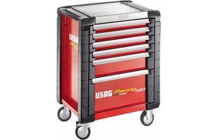 Montážní dílenský vozík na nářadí USAG 519 R6/3V